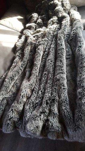 Deckenkunst Wolf Decke grau 140x200 10001