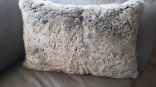 Deckenkunst Kissen Wolf grau 40x60 mit Inlet 10002