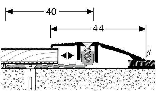 KWG Anpassungsprofil 386 PPS-AS 4.0 silber (Bodenstärke 5,0-11,5mm) 870137
