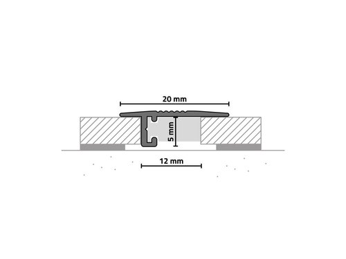 KWG mini-Übergangsleiste Aluminium